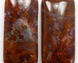 25.80 CTS MT MAURY AGATE PAIR OF STONES