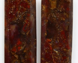 25.25 CTS MT MAURY AGATE PAIR OF STONES