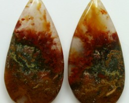 14.70 CTS MT MAURY AGATE PAIR OF STONES