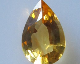2.25cts Golden Yellow Citrine Pear Shape