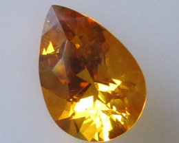 3.09cts Golden Yellow Citrine Pear Shape