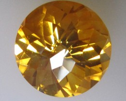 Golden Yellow Citrine Round Modified Briolette Cut, 11.07cts