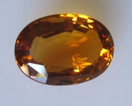 5.58cts Maderia Colour Citrine, Oval Shape, 5.58cts