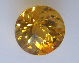 Golden Yellow Citrine Checker Board Round Shape, 2.35cts
