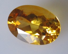 4.97cts Golden Yellow Citrine Oval Shape
