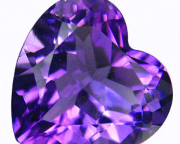 5.25 cts EXCEPTIONAL PURPLE HEART CUT AMETHYST NATURAL 12mm