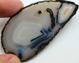 95 CTS AGATE SLICE NATURAL DRILLED FOR HANGING ON WINDOW