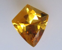 Golden Yellow Citrine Shield Cut, 3.03cts