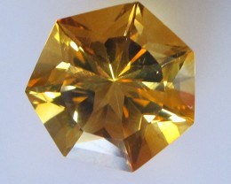 6.46cts Golden Yellow Citrine Heptagonal Shape