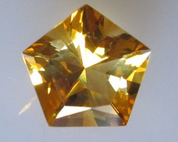 Golden Yellow Citrine Pentagonal Shape, 2.64cts