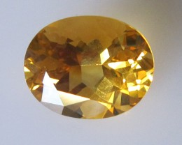 Golden Yellow Citrine Oval Shape, 4.68cts