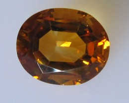 Maderia Colour Citrine, Oval Shape, 4.36cts, Super Quality