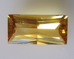 2.46cts Golden Yellow Citrine Baguette Shape