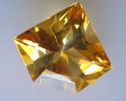3.19cts Golden Yellow Citrine Diamond Profile Shape