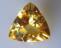 Golden Yellow Citrine Trillion Shape, 3.31cts