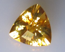 Golden Yellow Citrine Checker Board Trillion Shape, 2.70cts