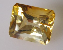 Light Golden Yellow Citrine Radient Cut, 3.24cts