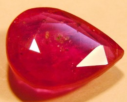 CERT 3.44 CTS FACETED RASPBERRY RED RUBY  11 1047