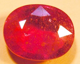 CERT 6.75 CTS FACETED RASPBERRY RED RUBY  11 1053