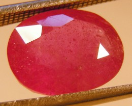 CERT 5.5 CTS FACETED RASPBERRY RED RUBY  11 1056