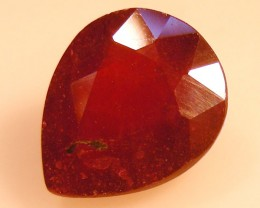 CERT 5.94 CTS FACETED RASPBERRY RED RUBY  11 1066