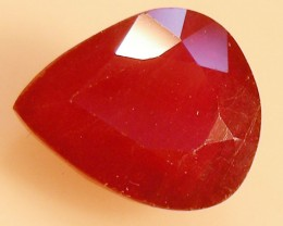CERT 3.59 CTS FACETED RASPBERRY RED RUBY  11 1067