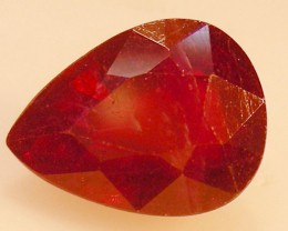 CERT 3.64 CTS FACETED RASPBERRY RED RUBY  11 1072