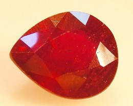 CERT 3.82 CTS FACETED RASPBERRY RED RUBY  11 1074