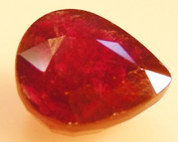 CERT 6.4 CTS FACETED RASPBERRY RED RUBY  11 1078