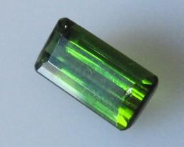 Green Tourmaline Emerald Cut, 1.27cts