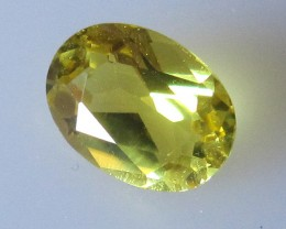 Yellow Tourmaline Oval Cut, 1.27cts