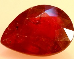 CERT 3.38 CTS FACETED  RED RUBY  11 1086