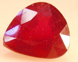 CERT 3.59 CTS FACETED  RED RUBY  11 1087
