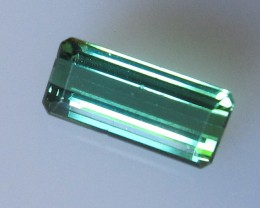 Green Tourmaline Emerald Cut, 1.23cts