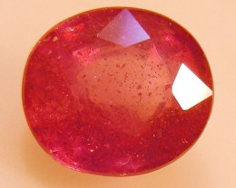 CERT 3.82 CTS FACETED  RED RUBY  11 1096