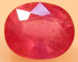 CERT 4.24 CTS FACETED  RED RUBY  11 1110