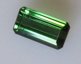 Green Tourmaline Emerald Cut, 1.57cts