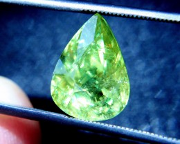 6.82 Carat SI African Pear Cut Sphene - Beautiful and Rare