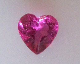 Super Hot Pink Tourmaline Heart Shape, 0.58cts