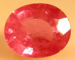 CERT 5.20 CTS FACETED  RED RUBY  11 1120