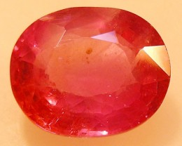 CERT 3.10 CTS FACETED  RED RUBY  11 1121