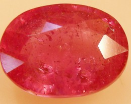 CERT 4.68 CTS FACETED  RED RUBY  11 1123