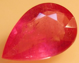 CERT 3.46 CTS FACETED  RED RUBY  11 1124