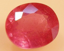 CERT 4.85 CTS FACETED  RED RUBY  11 1127