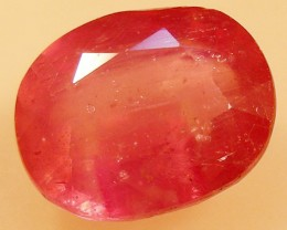 CERT 4.56 CTS FACETED  RED RUBY  11 1130