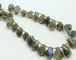 164 CTS LABRADORITE STRAND OF BEADS 27 PIECES NATURAL