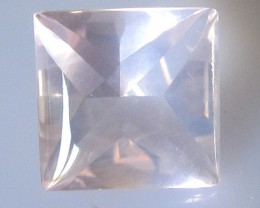 Rose Quartz Buff Top Princess Cut Super Quality, 4.43cts