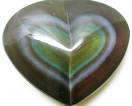 26.48 CTS  RAINBOW OBSIDIAN HEARTS -IRIDESCENCENT [MGW2513]