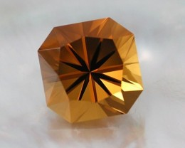 6.90ct PRECISION MASTERCUT BRAZILIAN GOLDEN CITRINE GEM - EZBAR SQUARE