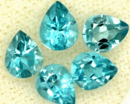 BLUE TOPAZ NATURAL FACETED (5 PCS) 2 CTS   PG-1447